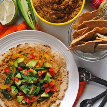 Put a little Mexican twist on traditional hummus with a little chipotle spice, paired with naturally gluten-free oat tortillas for a satisfying vegan meal.