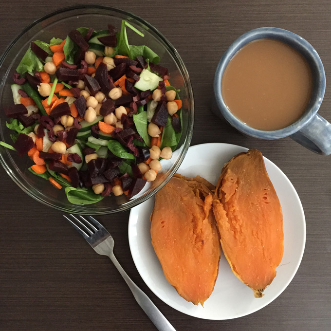 Here's a little glimpse into what I eat on a normal day in college as a vegan on a budget!
