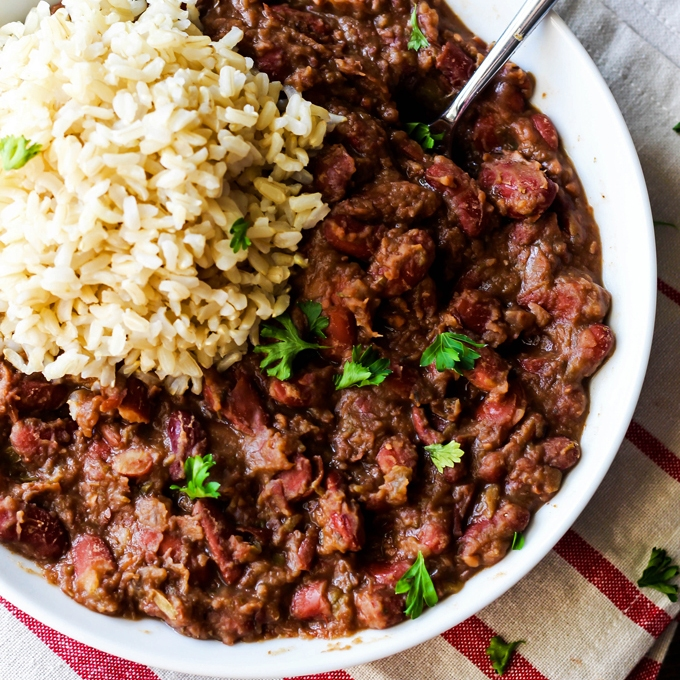 Cajun Style Vegan Red Beans And Rice Emilie Eats