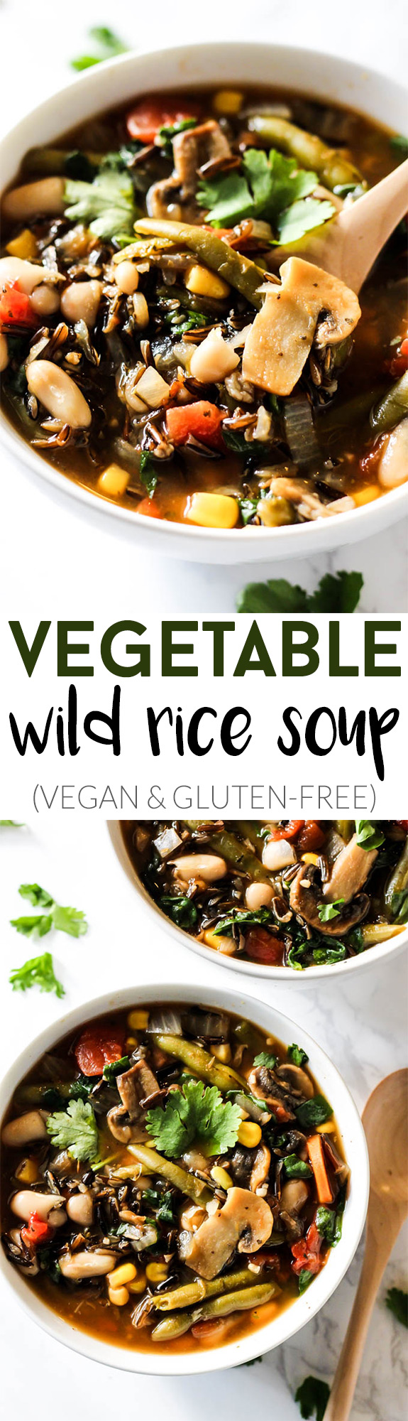 Load up on this cozy Vegetable Wild Rice Soup this winter! It's full of nutritious ingredients and will satisfy you on cold nights. Vegan & gluten-free!