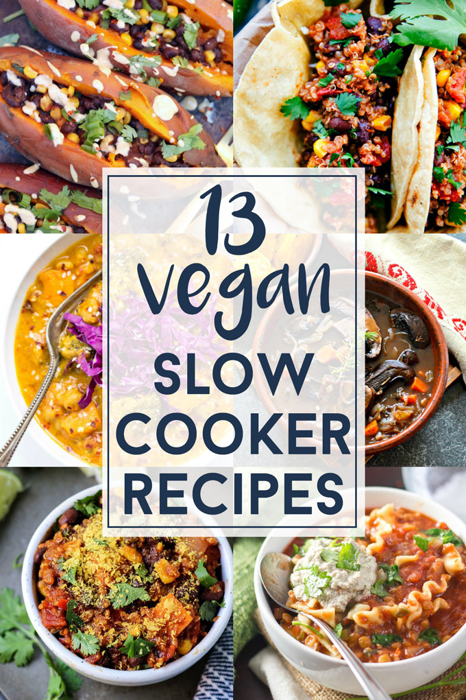 Get cozy this winter and bust out your Crockpot for these Vegan Slow Cooker recipes! Lots of hearty chills, soups & even oatmeal. Perfect for cold nights!