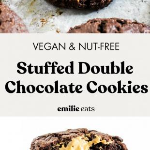 stuffed double chocolate chip cookies