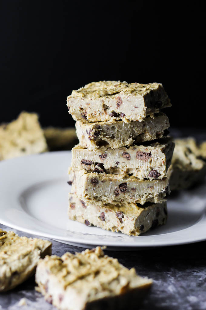 Yes, there's beans hiding in this Chickpea Cookie Dough Fudge! No baking required, vegan & gluten-free. A healthy dessert to satisfy your sweet tooth!