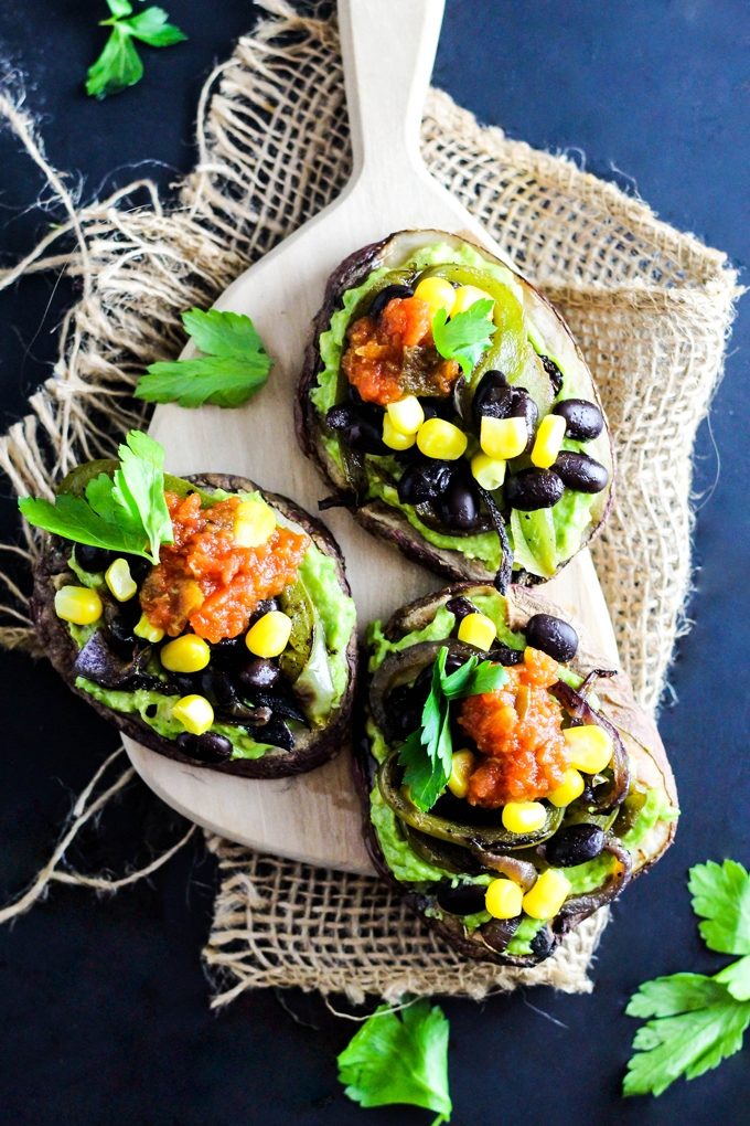 This Mexican Potato Toast is easy to make in just minutes and complete with your favorite toppings like avocado, black beans & salsa! Vegan & gluten-free.