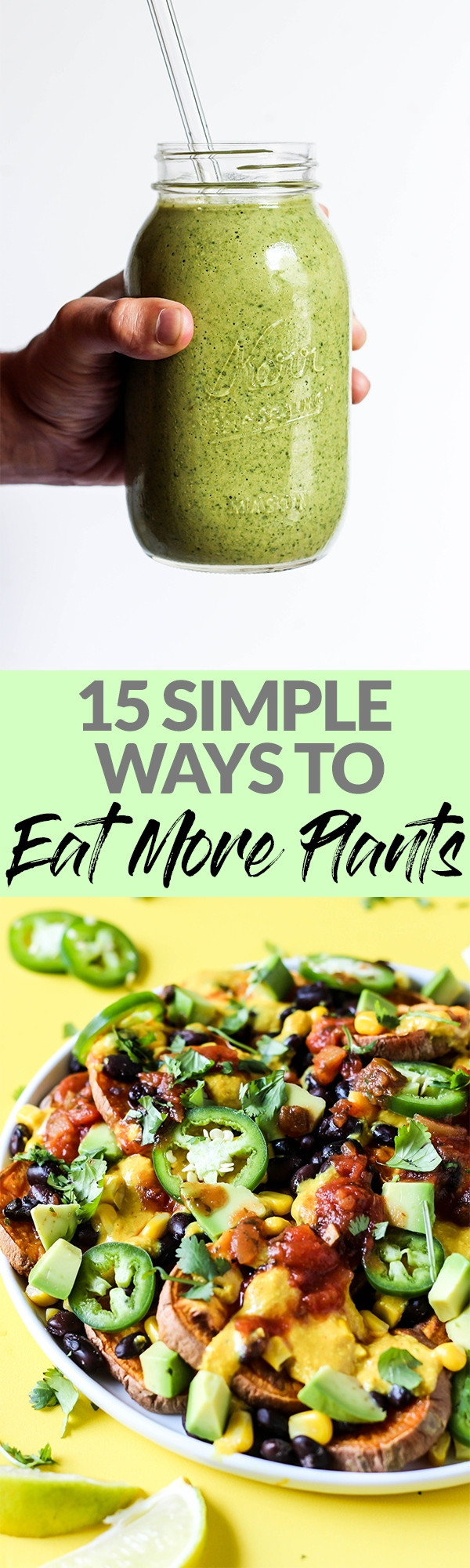 If you want to eat more plants but don't know where to start, here are 15 simple & delicious ways to incorporate plant-based foods into your normal meals!