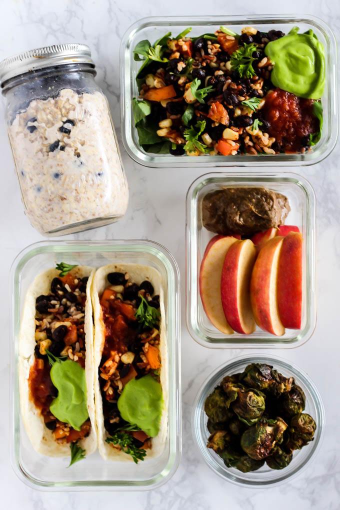 Spiksplinternieuw A Day of Vegan Meal Prep Recipes – Emilie Eats OV-46