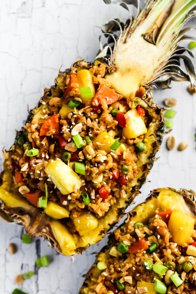 Easy Pineapple Fried Rice Vegan Amp Gluten Free Emilie Eats