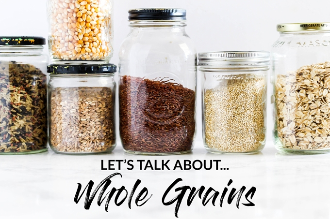 Whole grains, refined grains, enriched grains…it can get confusing! In this post, I have all the basic info you need about whole grains, why you should be eating them, and how to make them taste good!