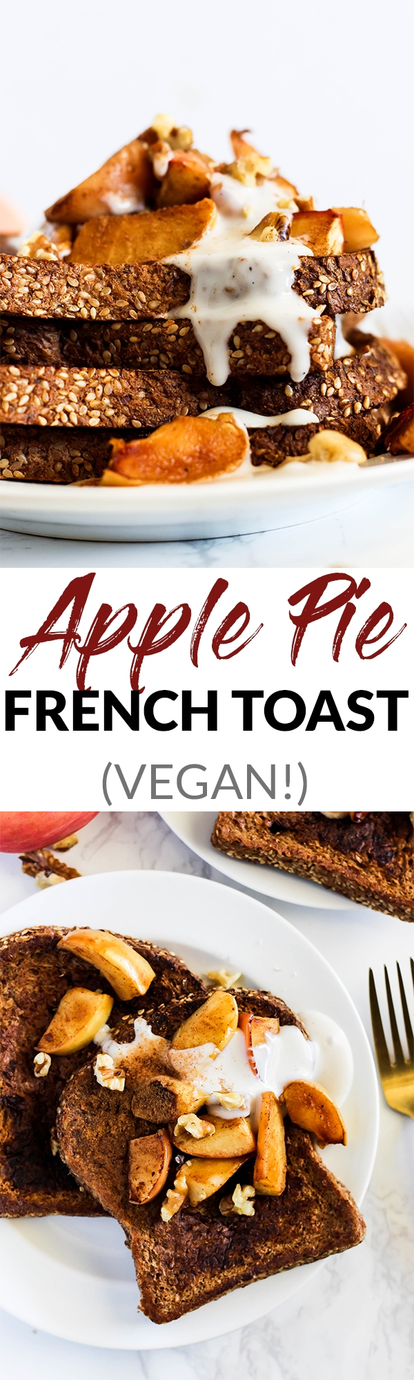 Make breakfast the most satisfying meal of the day with some Apple Pie Vegan French Toast! Simple to make, wholesome, and absolutely delicious.