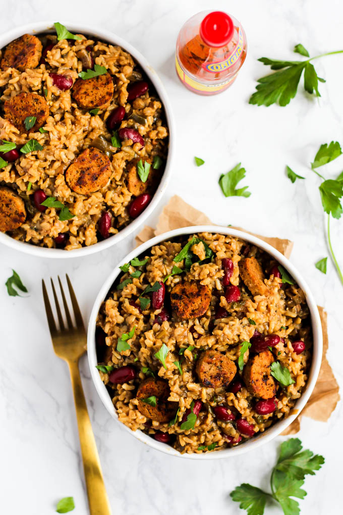 Serve this Classic Cajun Vegan Jambalaya to a crowd as a comforting, one-pot meal that will impress everyone! Authentic, simple & so full of Creole flavor. (gluten-free)