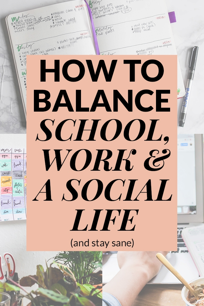 Start your semester with clear goals and a plan to balance school, work & your social life! I'm giving you my top 8 tips after learning about (and sometimes failing at) this balancing act during 4+ years of college while working.