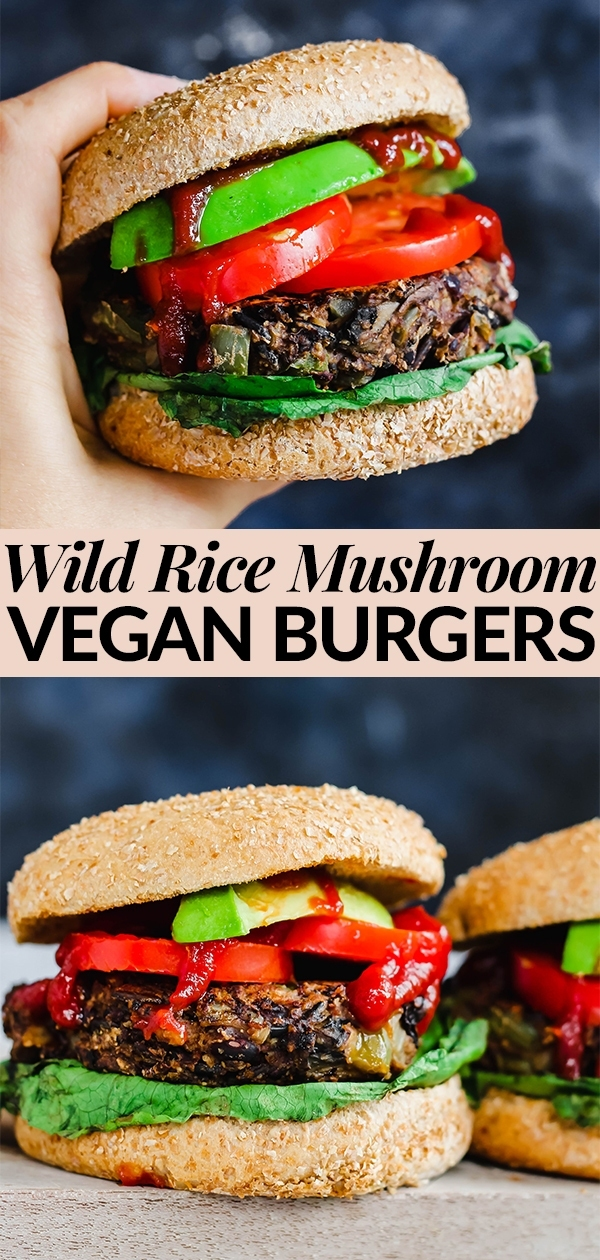 These aren't sad veggie burgers. These are hearty, dense, smoky Wild Rice Mushroom Veggie Burgers that will please everyone at the dinner table! Serve them on a whole-wheat bun with veggies & ketchup for a balanced vegan meal.