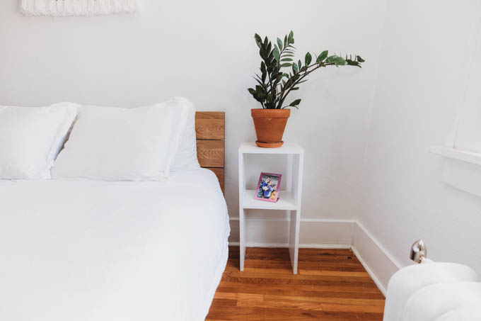 Today I'm starting my apartment makeover reveal with my bedroom! From basic beige to bright and full of plants, this room inspires me when I wake up and go to sleep.
