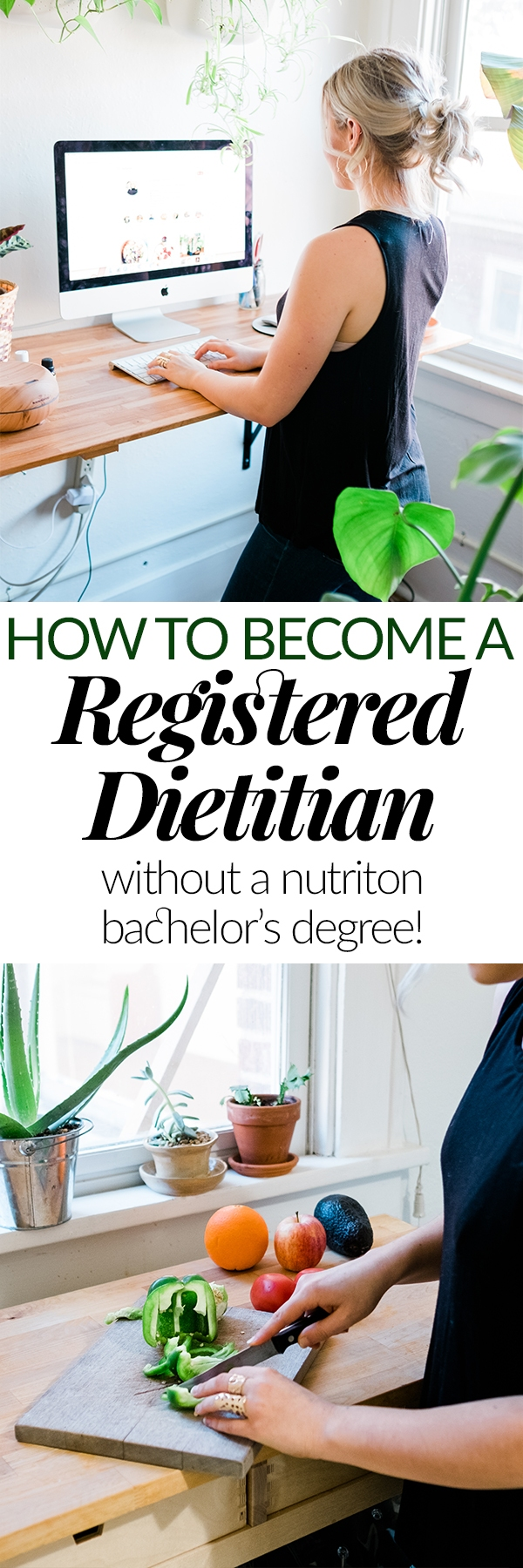 "One of the most common questions I get is ""how did you switch career paths to become a registered dietitian (RD)?"" I'm detailing every step you'll need to take if you want to become a dietitian and have a non-nutrition bachelor's degree."
