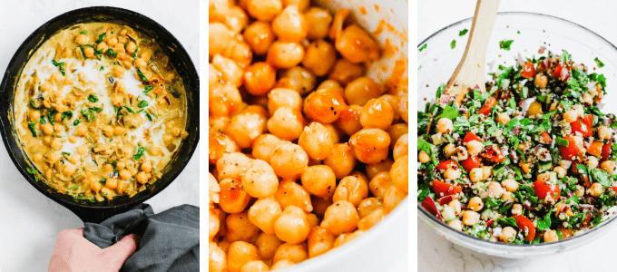 3 Ingredients, 3 Vegan Meal Prep Recipes: Chickpeas, Quinoa