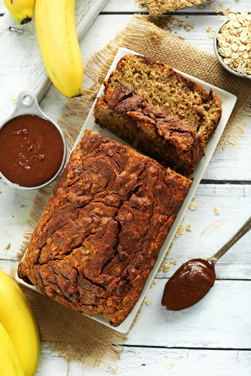 One Bowl Nutella Banana Bread by Minimalist Baker