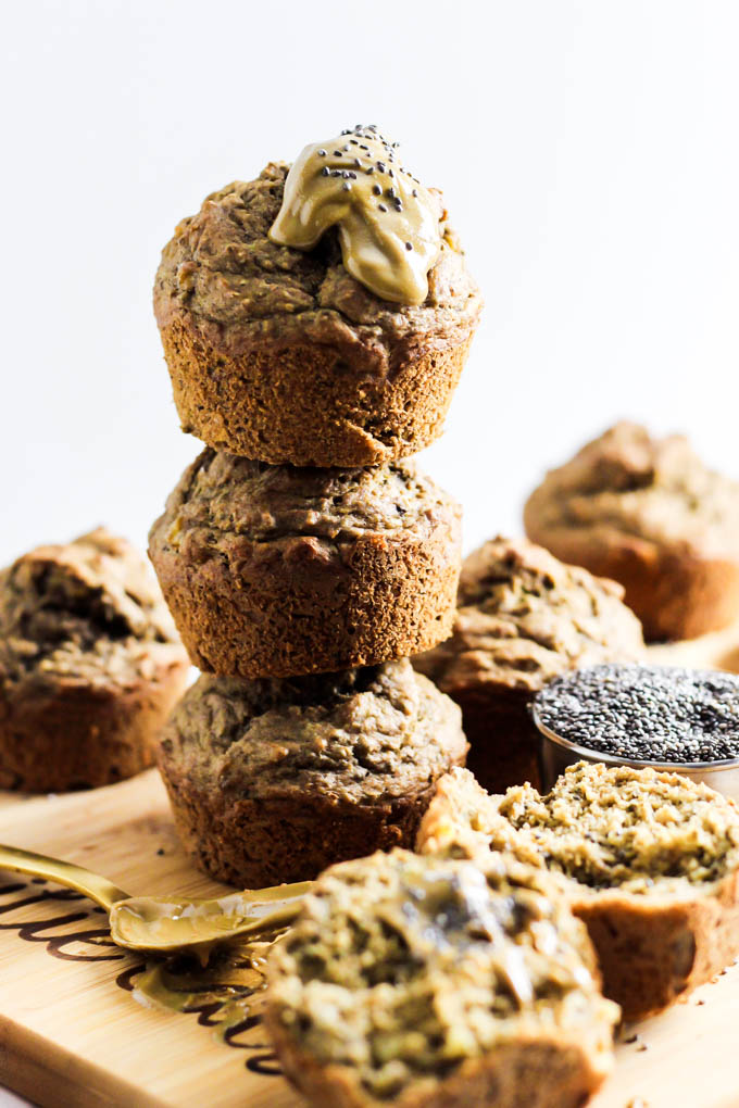 Emilie Eats Banana Chia Almond Butter Muffins