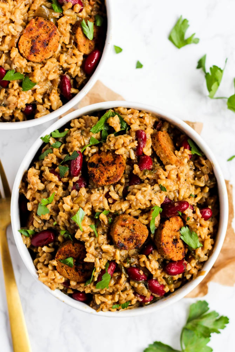 vegan pantry meals of jambalaya
