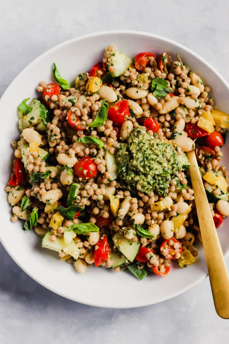 pesto couscous salad