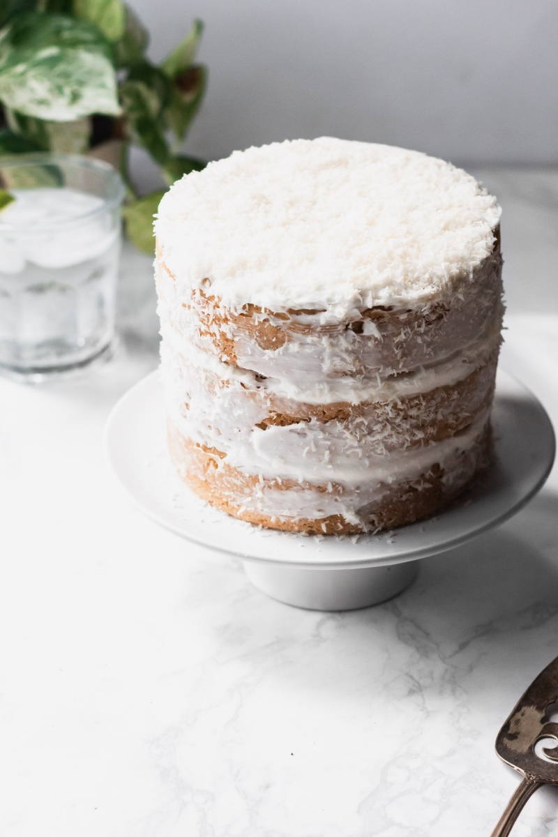 frosted coconut cake